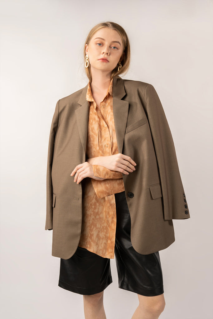 Earth-Cashmere Blended Blazer