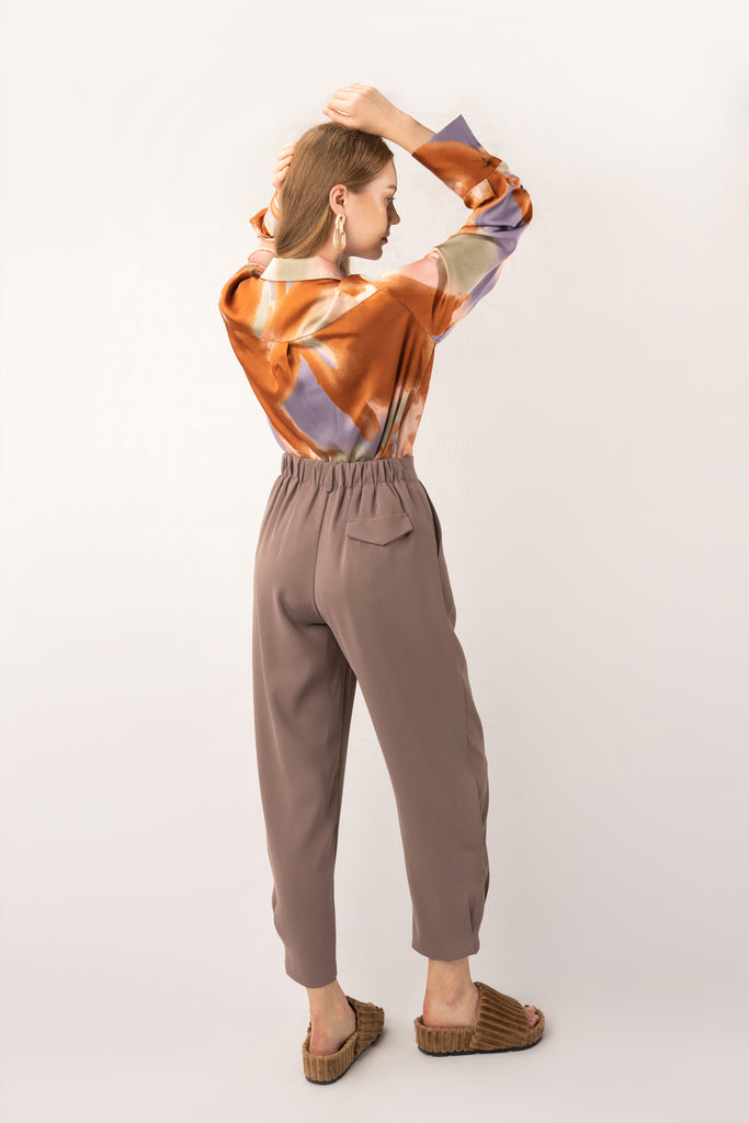 Rust-Khaki Tapered Pants
