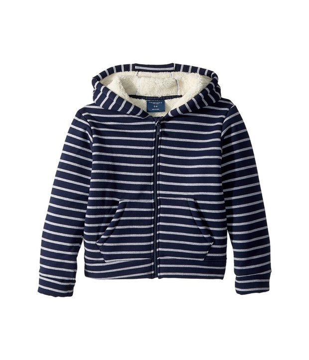 Adam Fleece Lined Striped Hoodie