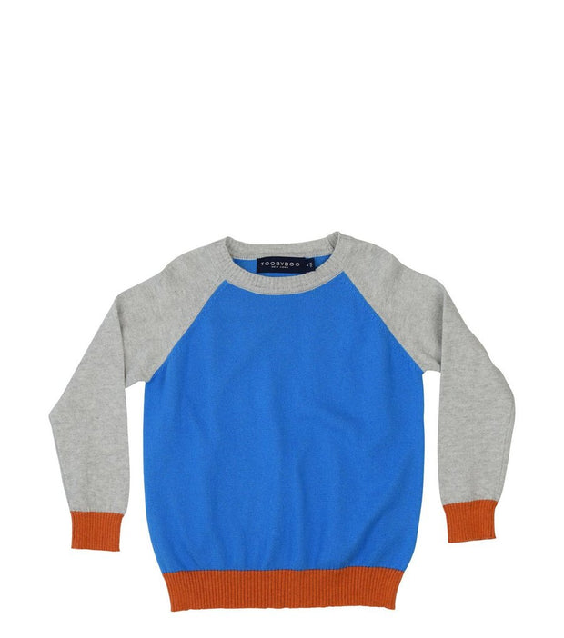 Cashmere Baseball Sweater