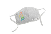 LOVE Kids Grey Face Mask with Adjustable Straps
