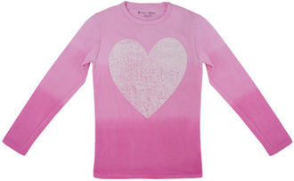 Ombre Heart Long-Sleeve Tee