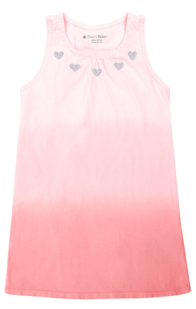 Heart Necklace Ombre Dress