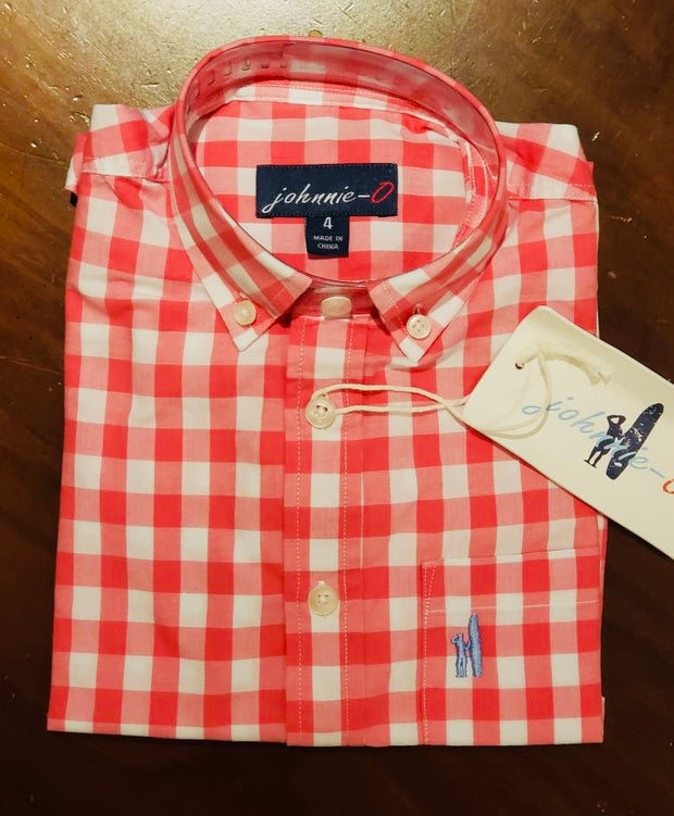 Red & White Checkered Button Down