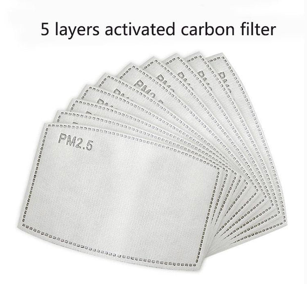 PM2.5 Activated Carbon Mask Filter - 10 pack