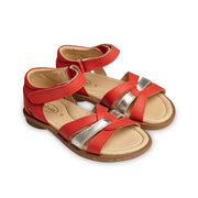 Red and Silver Clarise Sandal