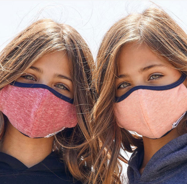 Cherry, Denim & Plum Face Mask 3-Pack for Kids with Adjustable Straps