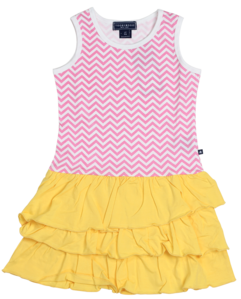 Zig Zag Ruffle Tank Dress