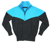 Cool Aqua Zip Sweater