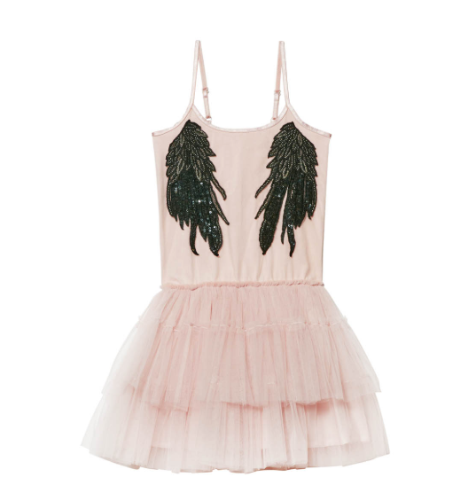Whispers in the Wings Tutu Dress - Tea Rose