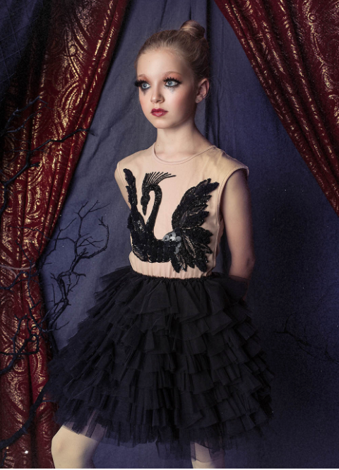Black Swan Tutu Dress - Nude