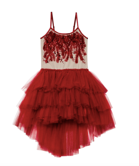 Scarlet Superstitions Tutu Dress - Scarlet