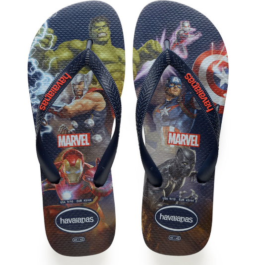 KIDS TOP MARVEL AVENGERS FLIP FLOPS