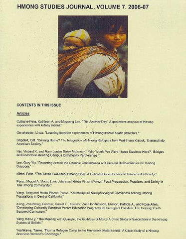 Hmong Studies Journal, Vol 7