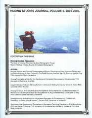 Hmong Studies Journal, Vol 5