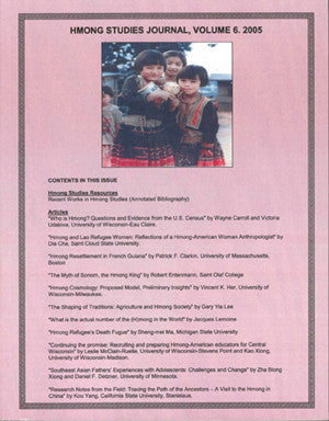 Hmong Studies Journal, Vol 6