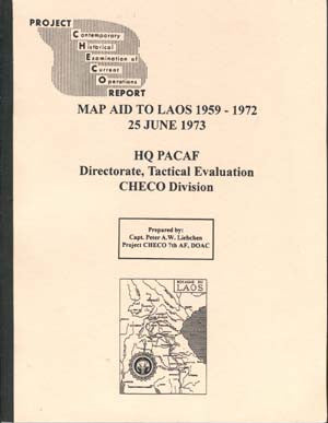 Map Aid to Laos, 1959-1972