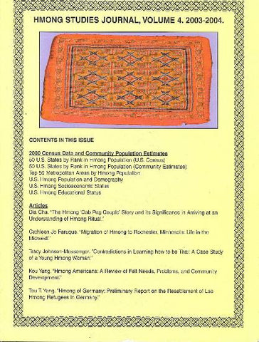 Hmong Studies Journal, Vol 4