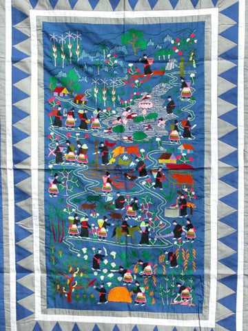 Hmong Daily Life Story Cloth 001