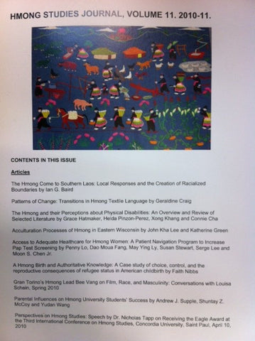 Hmong Studies Journal, Volume 11, 2010-11