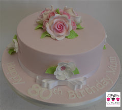 Pretty in Pink Floral Cake