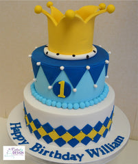 Boy's Crown Cake