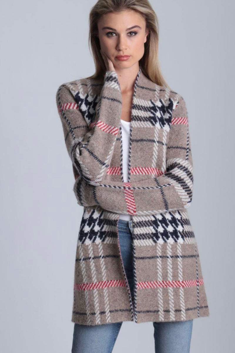 Burry Plaid Cardy