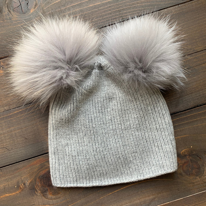 Double Fur Pom Hat *Kids*