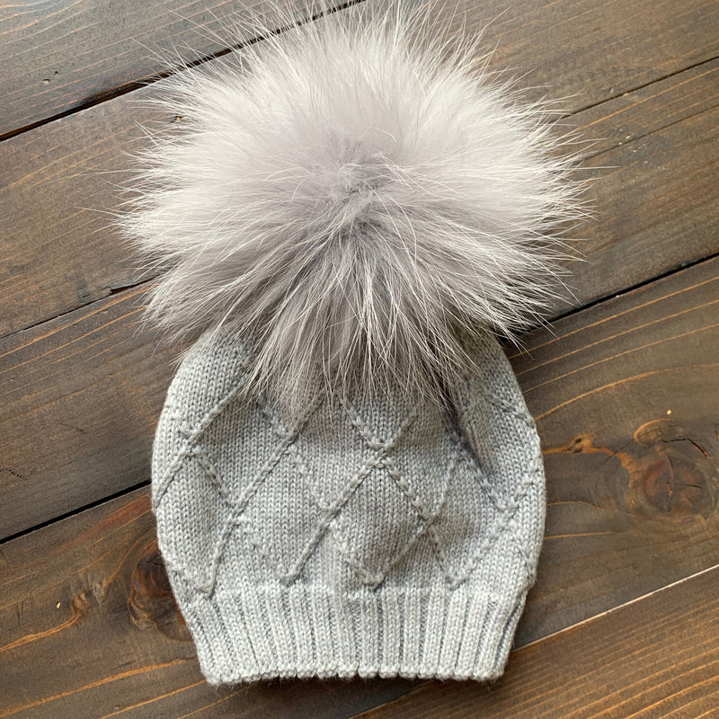 On Point Merino Knit Fur Pom Hat *Kids*
