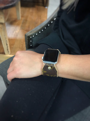LV Monogram Apple Watch Bow Band