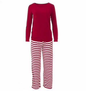 Candy Cane Stripe Pajama Set