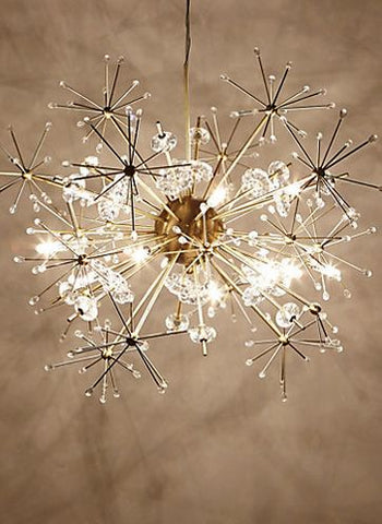How to decorate an interior using sputnik chandeliers lumigado this sputnik delicate lamp shows that the sputnik design can be small and delicately decorative with this almost christmas lights inspired pendant aloadofball Gallery