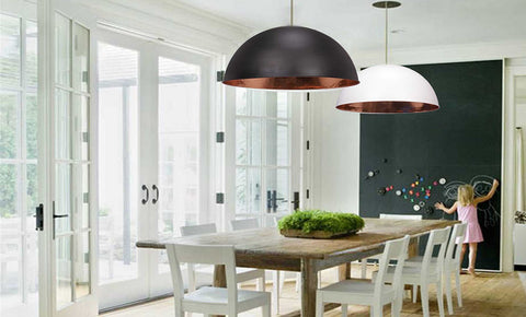 Malmo dome pendant in a contemporary living room - lumigado lighting