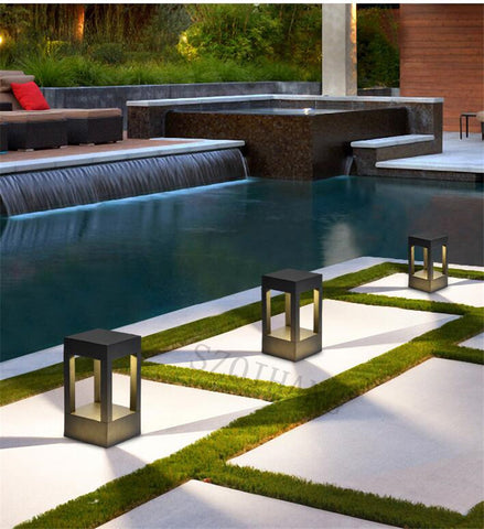 Skive post lamp garden pool area lighting