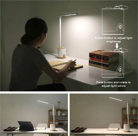 Freja contemporary LED desk lamp with dimming function