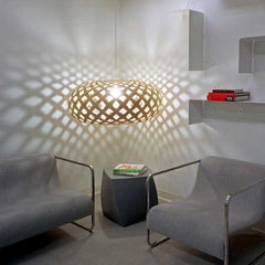 Kina pendant installation creating stunning shadows