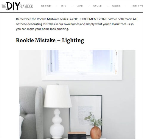 Rookie Mistake: Rules for Lighting