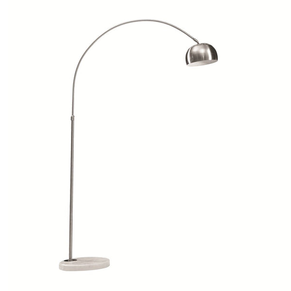 Arc floor lamp with small base