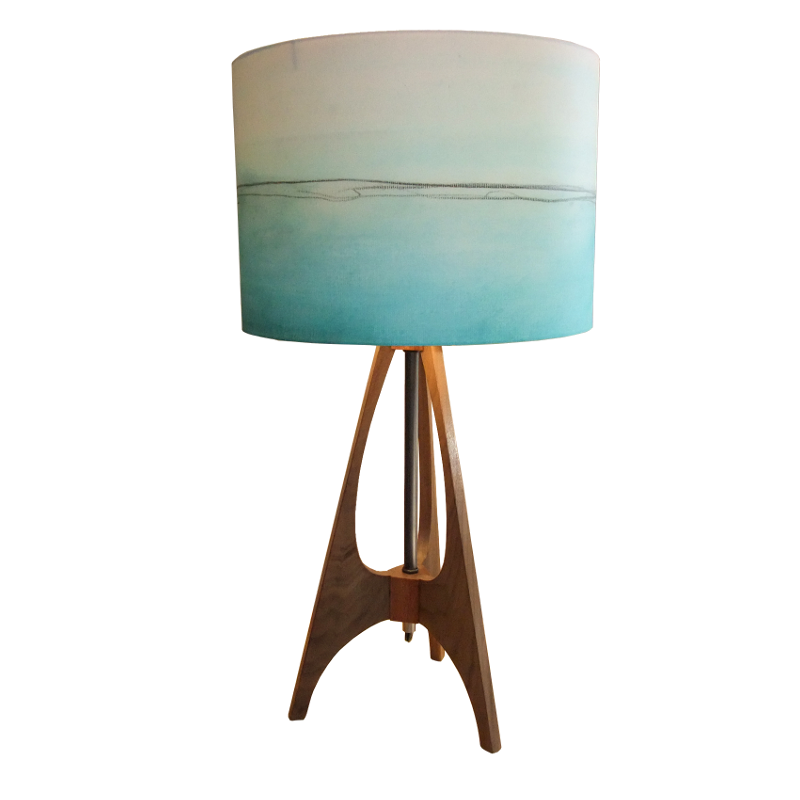 The 41 Aqua lines table lamp by Rowan chase