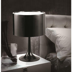 Black Tulip Table lamp FMI4000 by fine modern in bedroom lifestyle