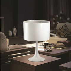 White Tulip Table lamp FMI4000 by fine modern in living room lifestyle