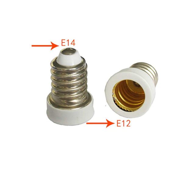 LED Lamp socket E14 to E12 Adapter