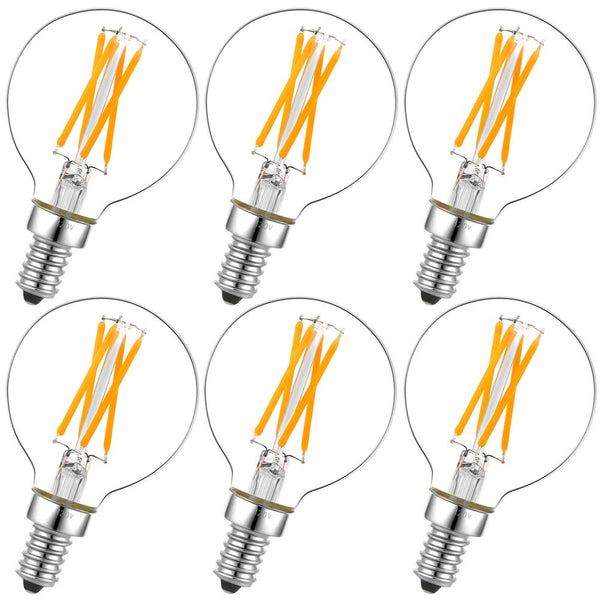6Pcs Clear LED bulbs for the Pulsar Sputnik chandeliers. (4W warm white) Dimmable a Bulbs by Amazon - Lumigado lighting
