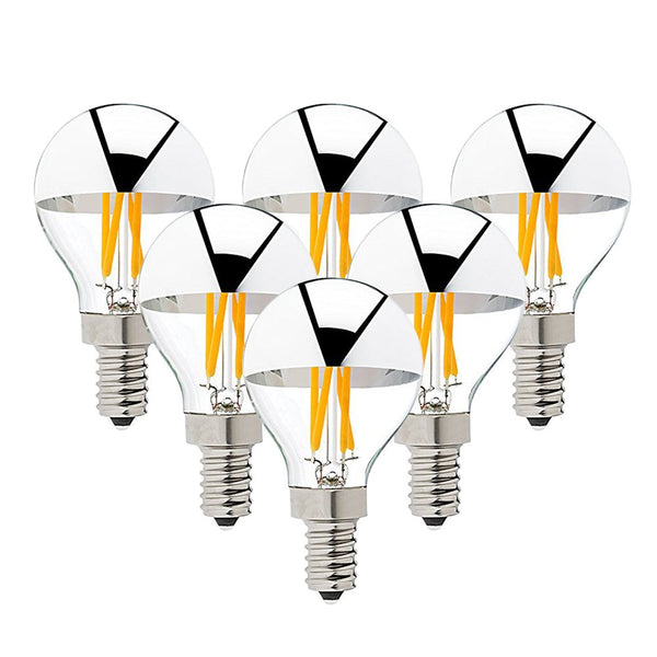 6Pcs Silver tipped LED bulbs for the sputnik chandeliers. (4W warm white) a Bulbs by Amazon - Lumigado lighting