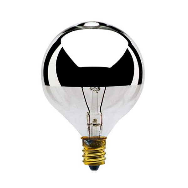 chrome tipped incandescent bulb for sputnik chandelier