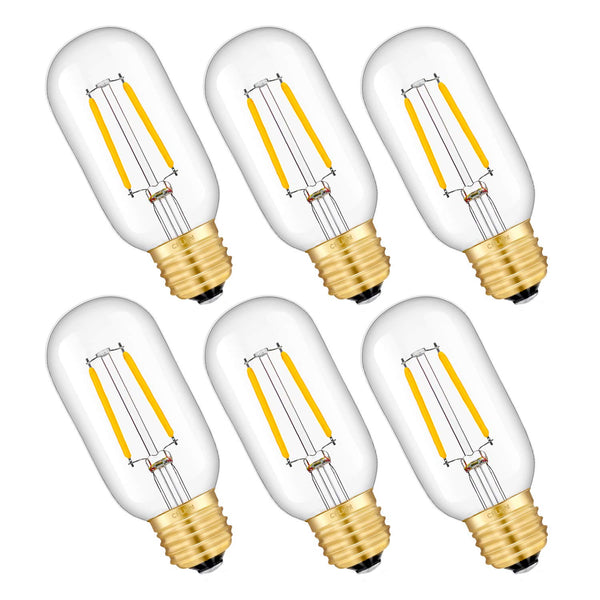 6Pcs tubular LED bulbs for the Sputnik Classic chandelier. (2W warm white)