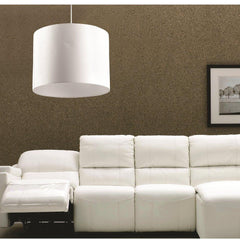White Dreams drum pendant in a modern living room