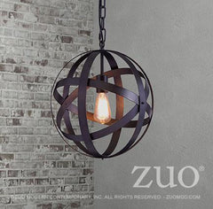 close up of the suspension lamp plymouth by Zuo modern
