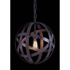 Plymouth ceiling lamp in rust color by Zuo Modern with edison bulb