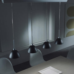 WILLY ceiling pendant in black or white glass by Enzo Panzeri for Zaneen Lighting Lifestyle office